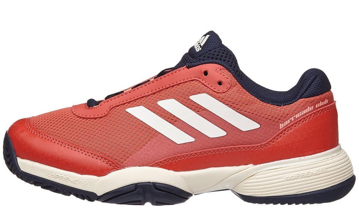 Детские теннисные кроссовки adidas Barricade Club xJ navy/scarlet