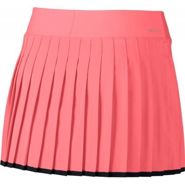 Теннисная юбка детская Nike Victory Skirt YTH lava glow/black