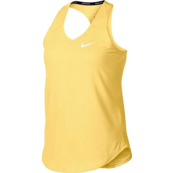 Теннисная майка детская Nike Girls Court Pure Tank tangerine tint/white