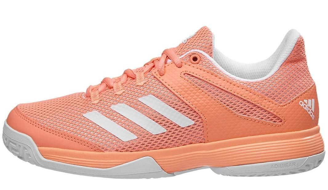 Детские теннисные кроссовки adidas adizero Club Junior coral/white