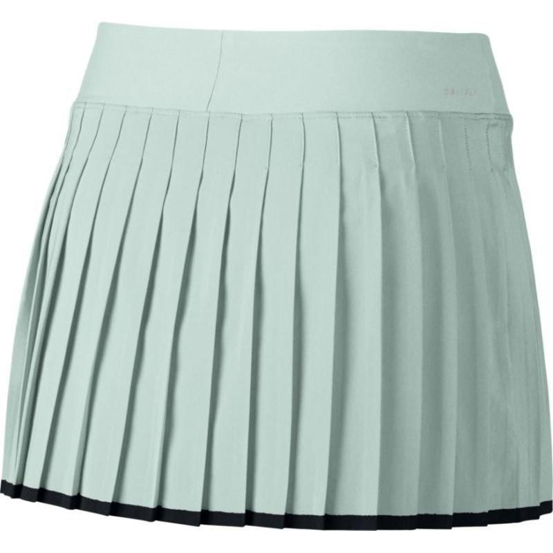 Теннисная юбка женская Nike Victory Skirt barely grey (light green)/black
