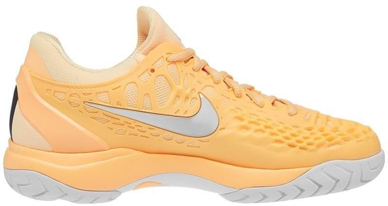Теннисные кроссовки женские Nike WMNS Air Zoom Cage 3 HC tangerine tint/metallic silver/white