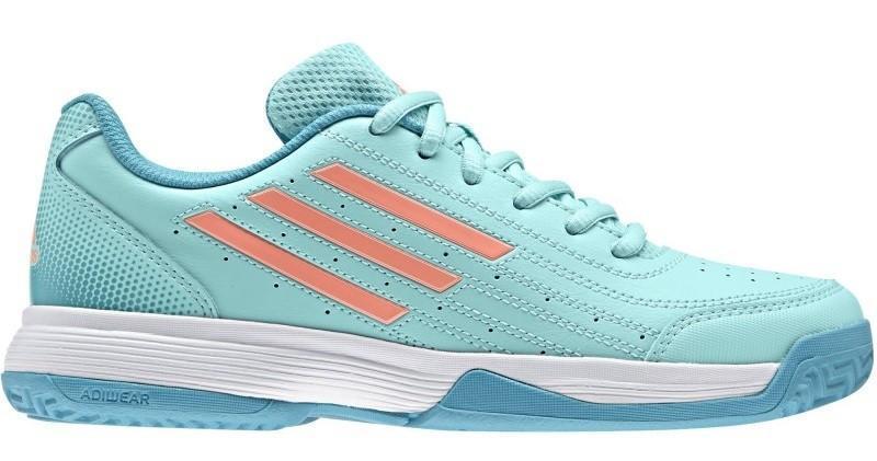 Детские теннисные кроссовки adidas Sonic Attack K energy aqua/sun glow/energy blue