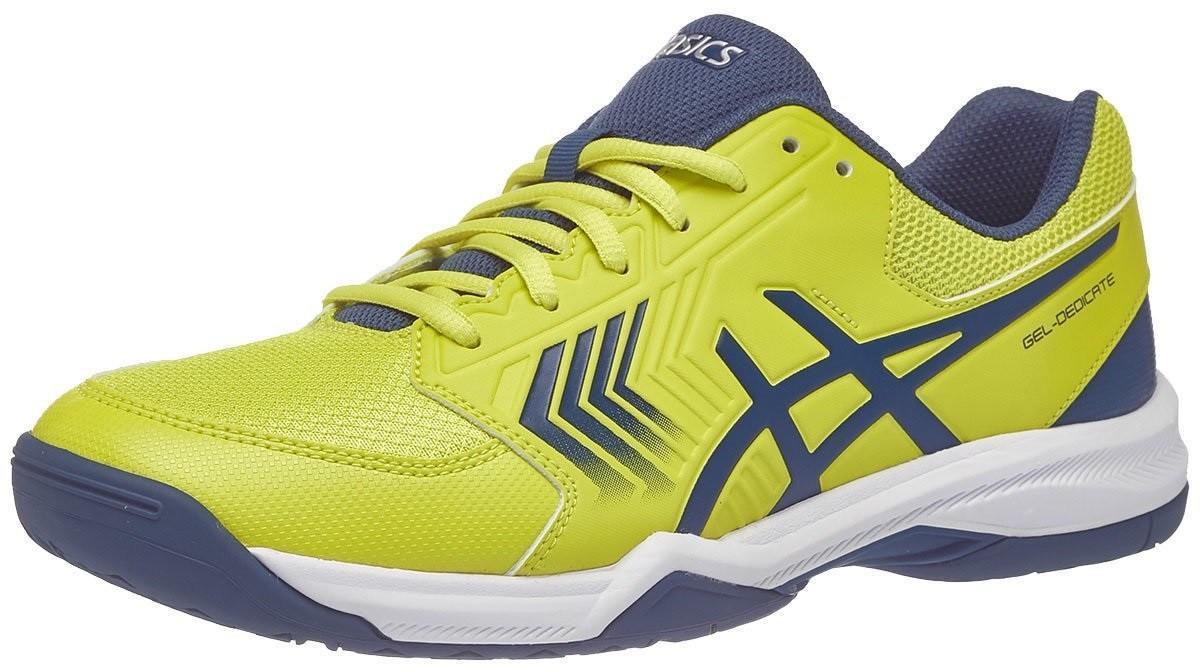 Теннисные кроссовки мужские Asics Gel-Dedicate 5 sulphur spring/ink blue/silver