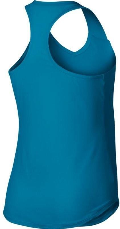 Теннисная майка для девочек Nike Girls Court Pure Tank neo turquoise/white