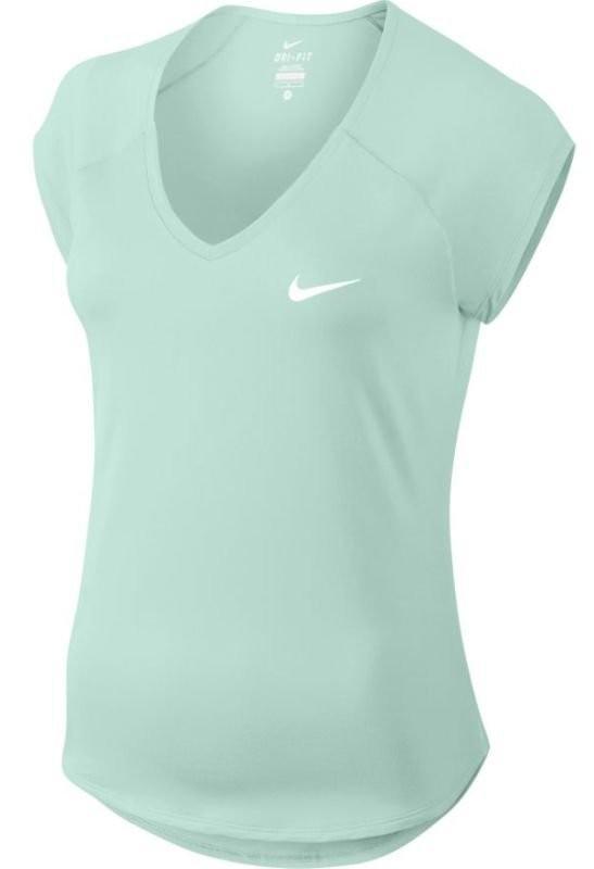 Теннисная футболка женская Nike Court Pure Top igloo/white