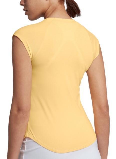 Тенісна футболка жіноча Nike Court pure Top tangerine tint/white
