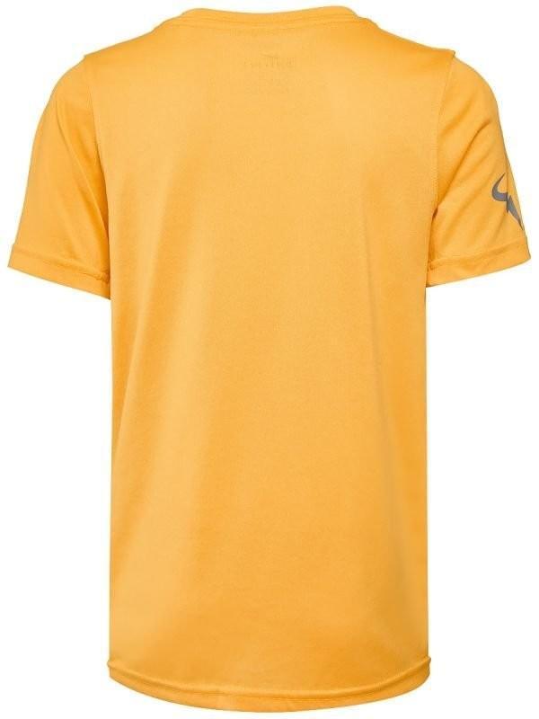 Теннисная футболка детская Nike Court Legend Rafa Tee laser orange/light pumice