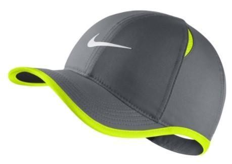 Кепка детская Nike Youth Aerobill Feather Light Cap cool grey/volt