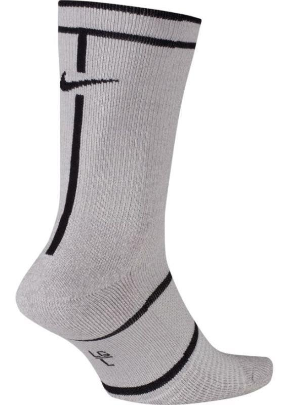 Носки теннисные Nike Court Essential Crew 1 пара vast grey/atmosphere grey/black