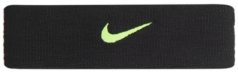 Повязка на голову Nike Swoosh Headband - black/volt