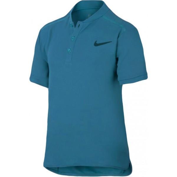 Теннисная футболка детская Nike Court Advantage Tennis Polo green abyss/green abyss поло