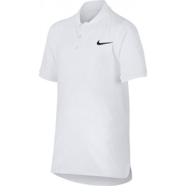 Теннисная футболка детская Nike Court Advantage Tennis Polo white/black поло
