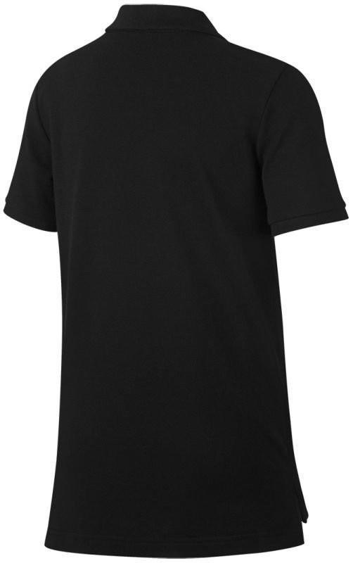 Теннисная футболка детская Nike Court Heritage Polo black/white поло