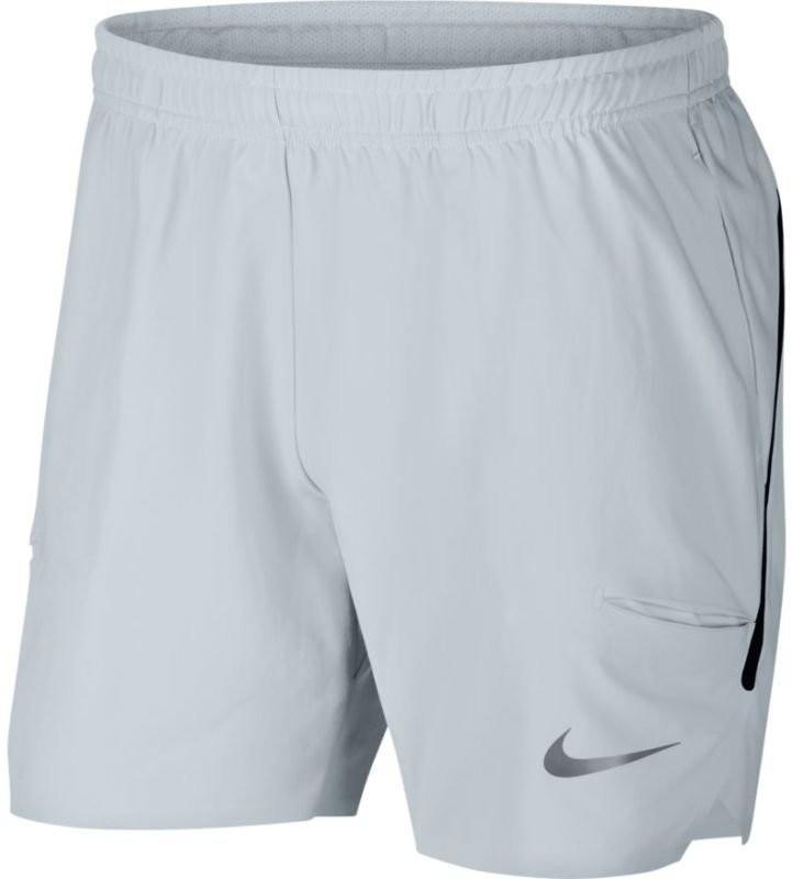 Теннисные шорты мужские Nike Court Flex Ace Short 7 pure platinum/pure platinum/black
