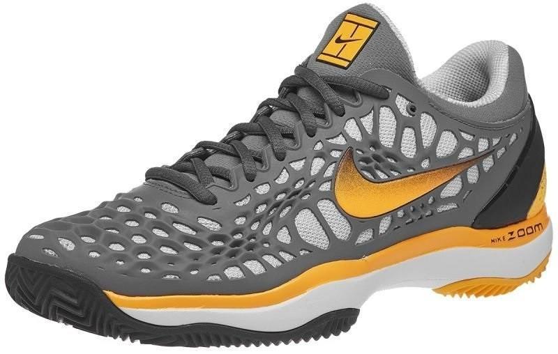 Детские теннисные кроссовки Nike Air Zoom Cage 3 Грунт Jr cool grey/laser orange/black/white