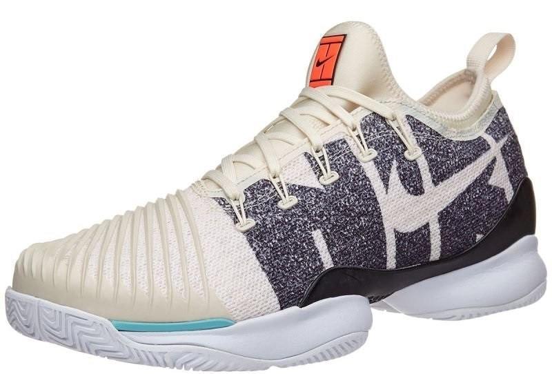 Детские теннисные кроссовки Nike Air Zoom Ultra React HC JR light cream/light cream/black/white