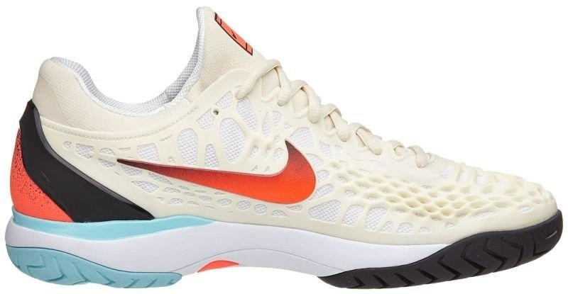 Теннисные кроссовки мужские Nike Air Zoom Cage 3 HC light cream/hyper crimson/black