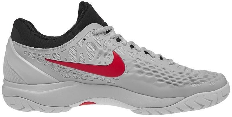 Теннисные кроссовки мужские Nike Air Zoom Cage 3 HC pure platinum/habanero red/black/white