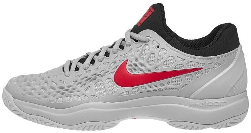 0caeb27532b5d1 ... Тенісні кросівки чоловічі Nike Air Zoom Cage 3 HC pure  platinum/habanero red/black ...