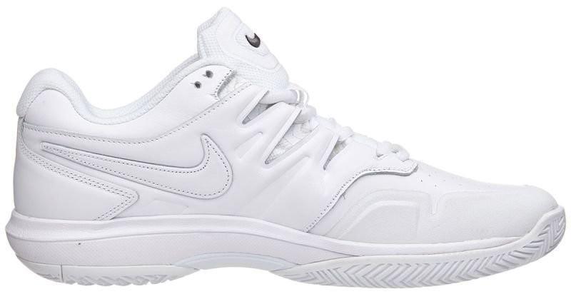 Теннисные кроссовки мужские Nike Air Zoom Prestige HC LTHR white/white/black