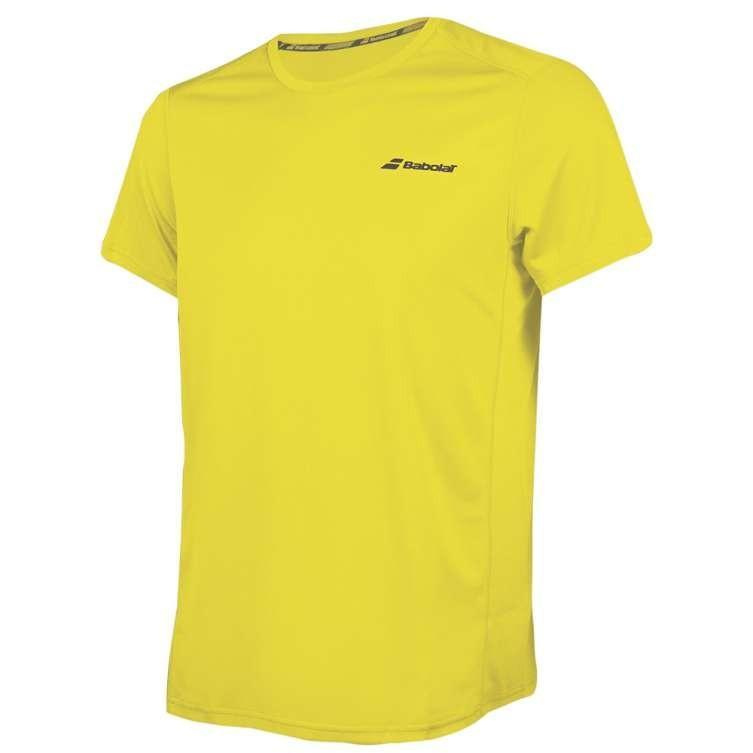 Теннисная футболка мужская Babolat Core Flag Club Tee Men blazing yellow