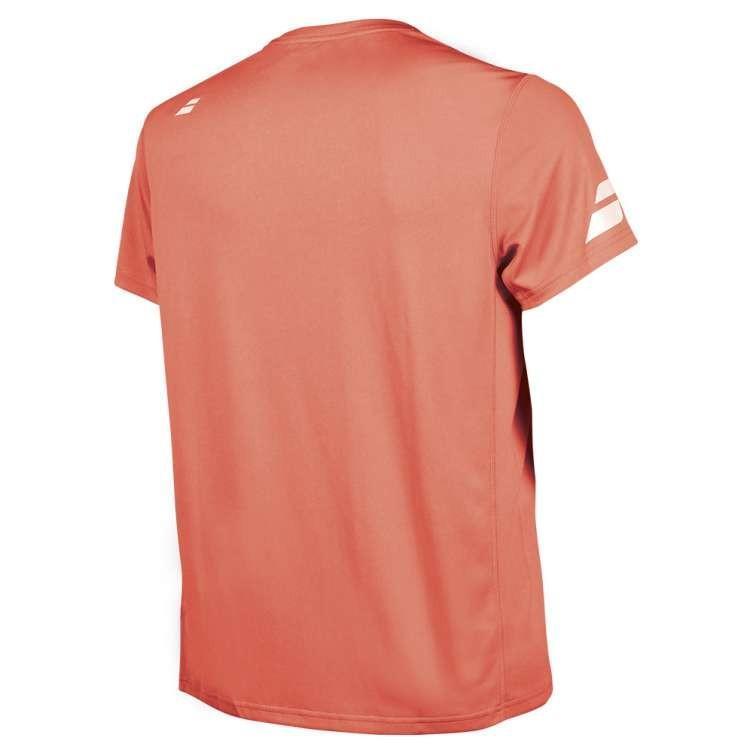 Теннисная футболка мужская Babolat Core Flag Club Tee Men fluo strike