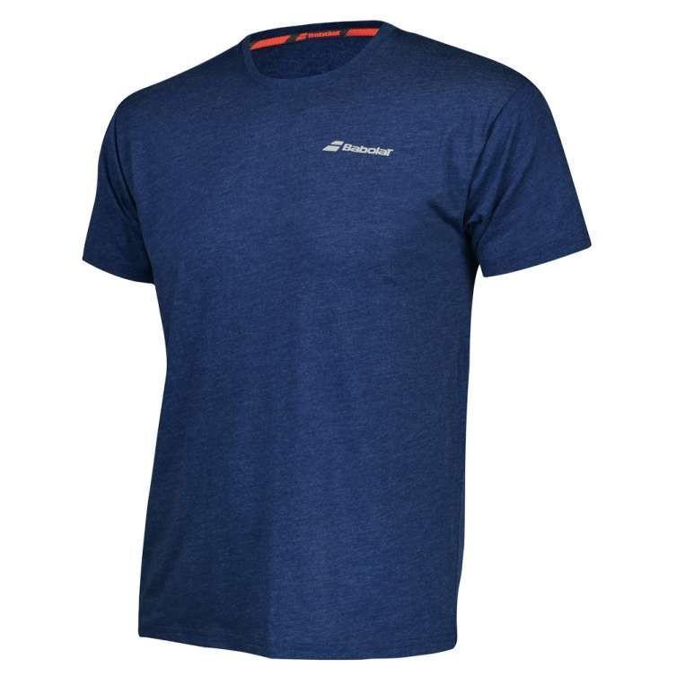 Теннисная футболка мужская Babolat Core Tee Men estate blue/heather