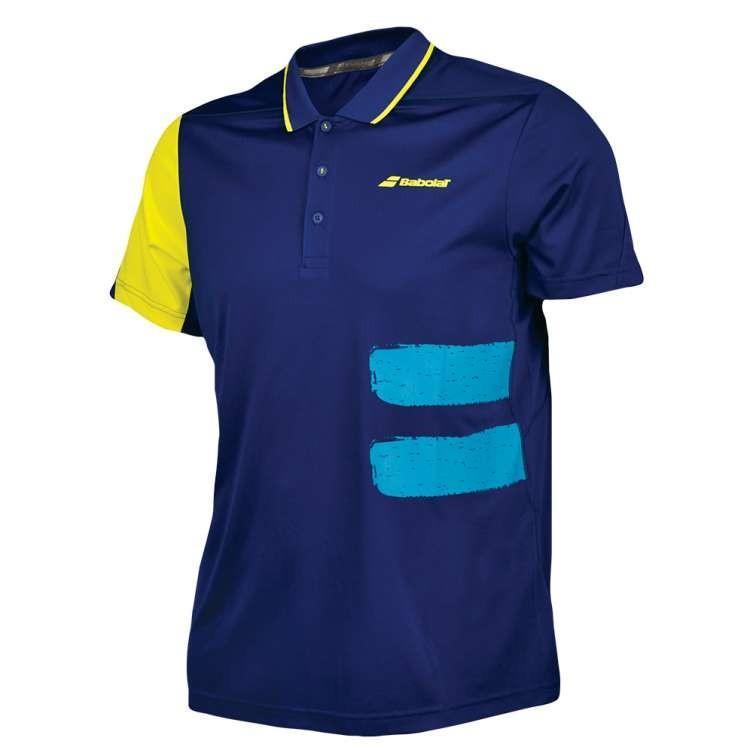 Теннисная футболка мужская Babolat Polo Performance Men estate blue поло