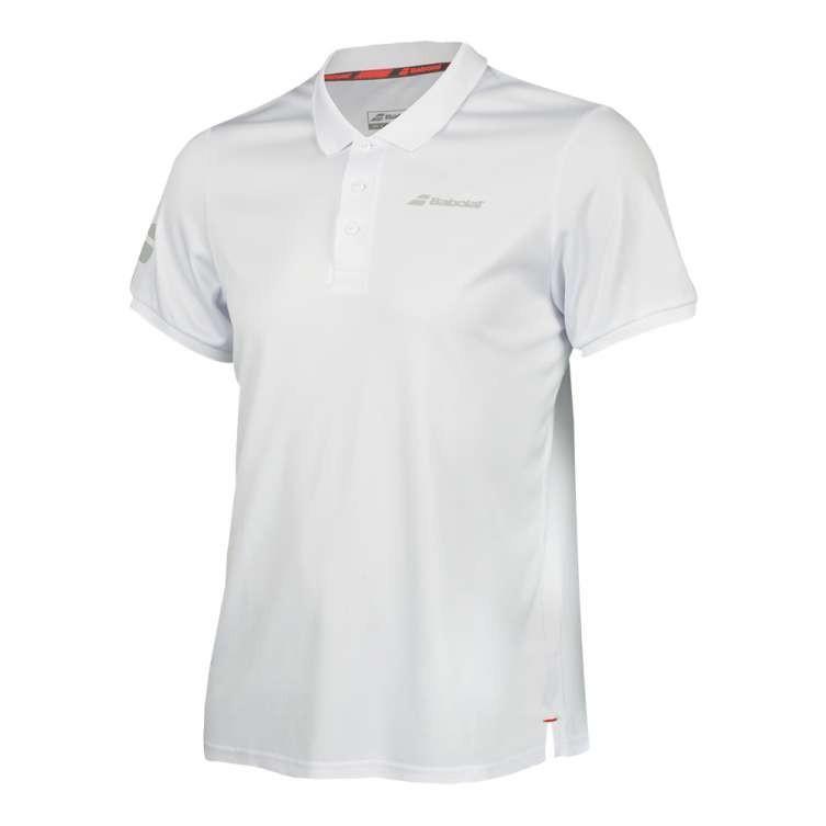 Теннисная футболка мужская Babolat Core Club Polo Men white/white поло