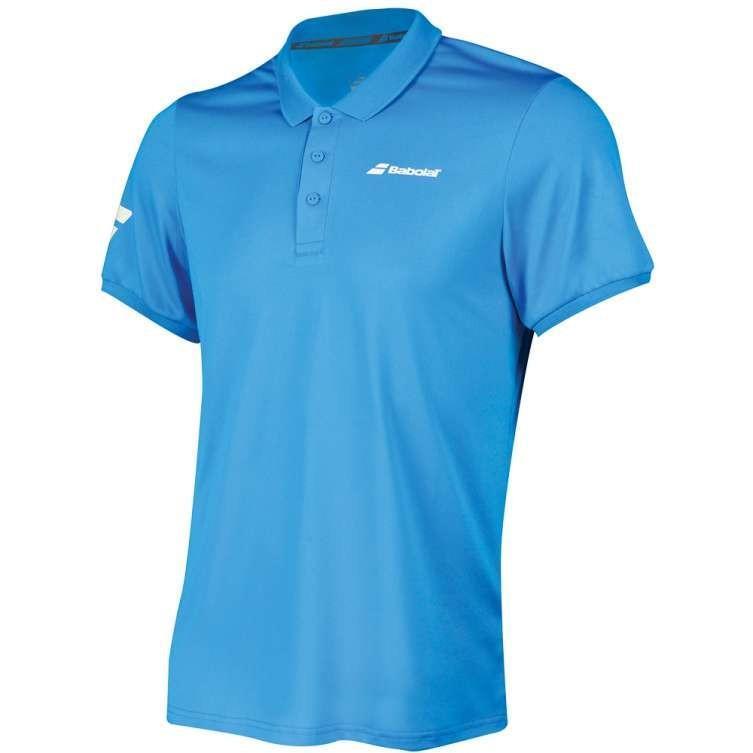 Теннисная футболка мужская Babolat Core Club Polo Men diva blue поло