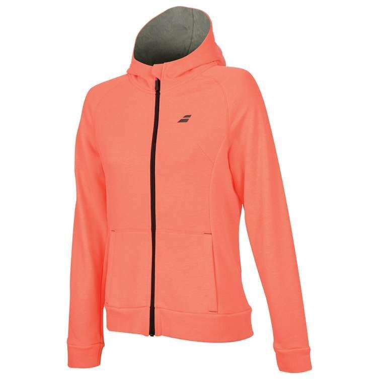 Кофта женская Babolat Core Hood Sweat Women fluo strike heather