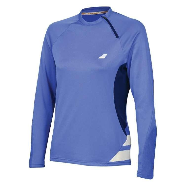 Кофта женская Babolat Performance 1/2 Zip Sweatshirt Women wedgewood/estate blue