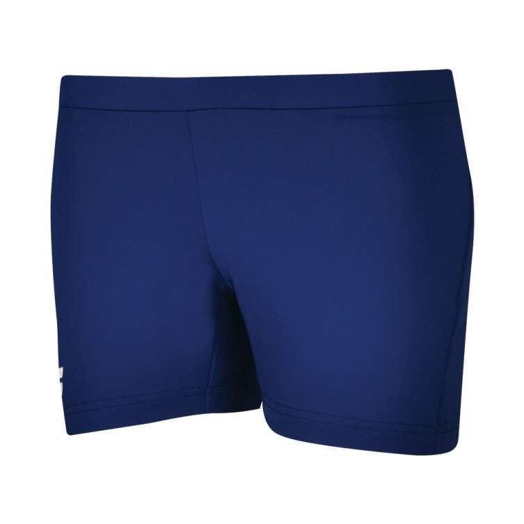 Теннисные шорты женские Babolat Core Shorty Women estate blue под платье