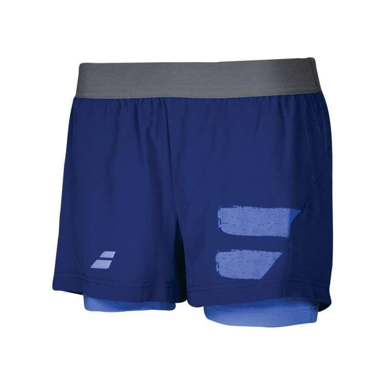 Теннисные шорты женские Babolat Performance Short Women estate blue