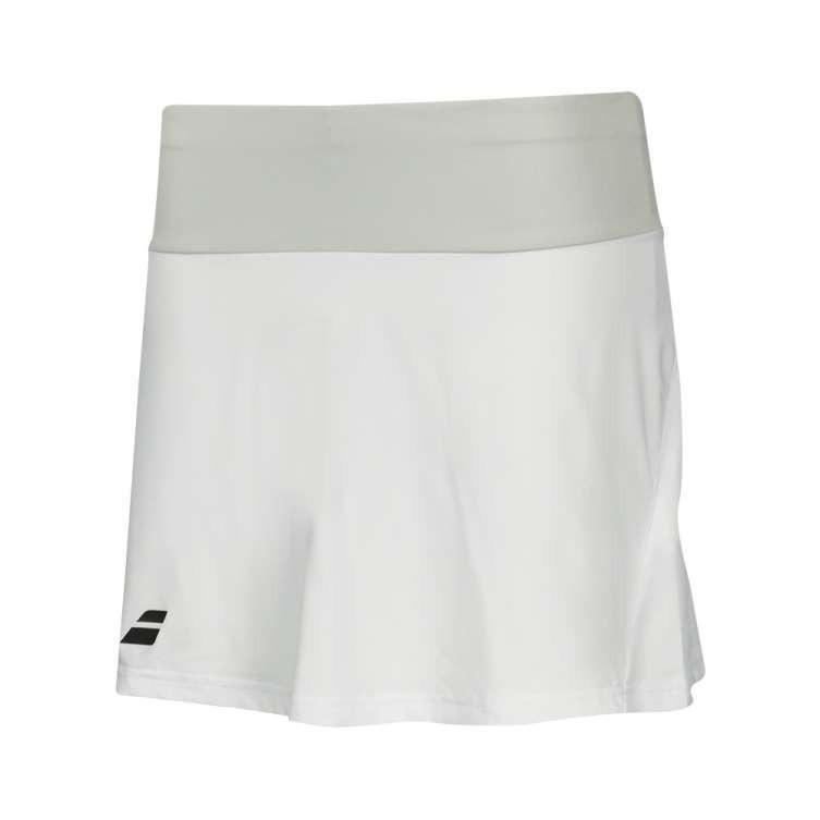 Теннисная юбка женская Babolat Core Long Skirt Women white/white