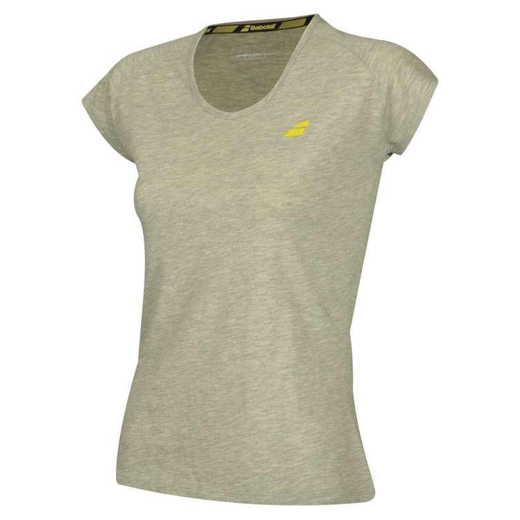 Теннисная футболка женская Babolat Core Tee Women lunar rock heather