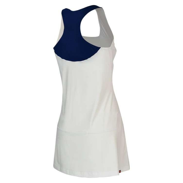 Теннисное платье женское Babolat Performance Racerback Dress Women white/estate blue