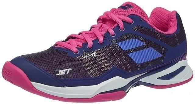 Теннисные кроссовки женские Babolat Jet Mach I all court estate blue/fandango pink