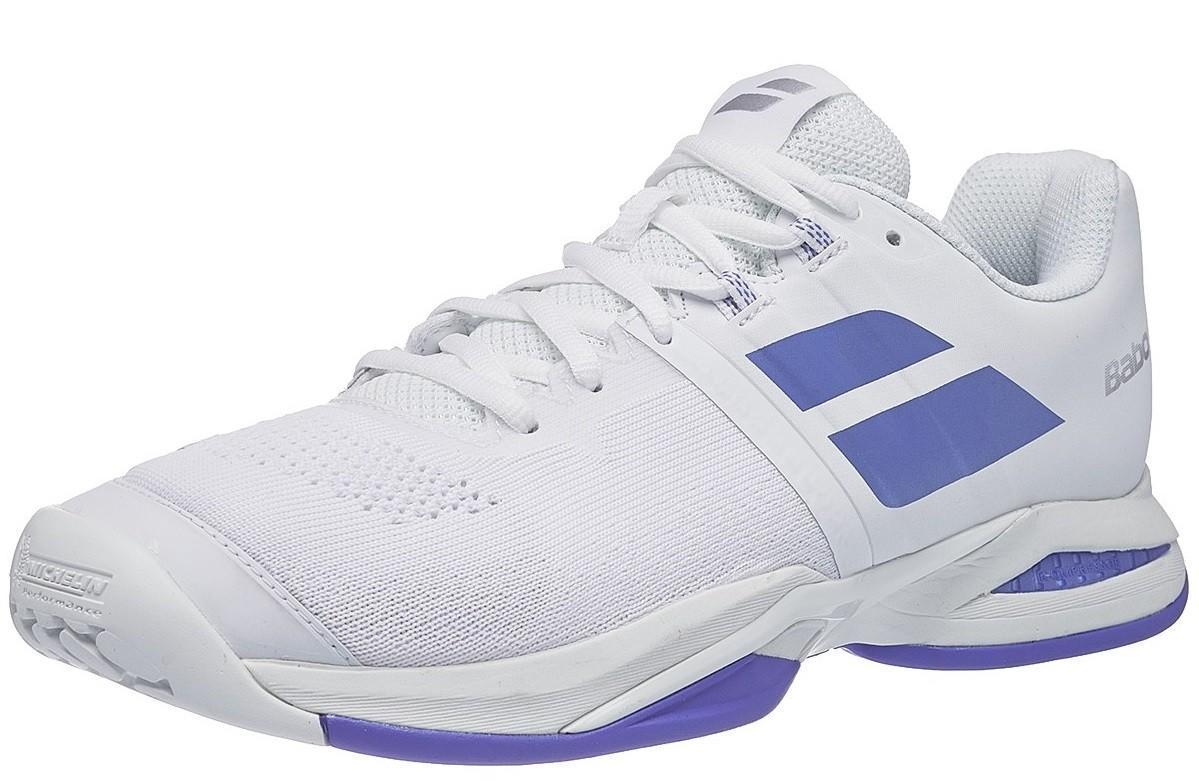 Теннисные кроссовки женские Babolat Propulse Blast all court white/wedgewood