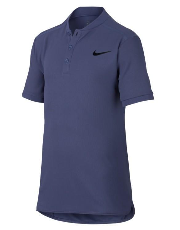 Теннисная футболка детская Nike Court Advantage Tennis Polo blue recall/black поло