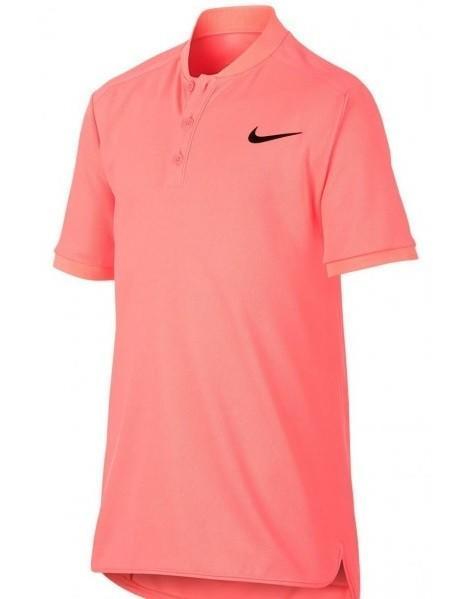 Теннисная футболка детская Nike Court Advantage Tennis Polo lava glow/black поло