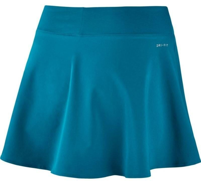 Теннисная юбка женская Nike Court FLX Pure Skirt Flouncy neo turquoise/white