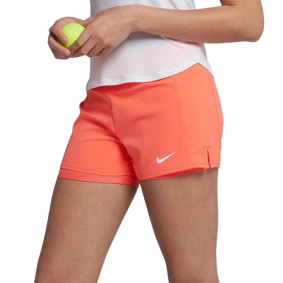 Тенісні шорти жіночі Nike Court FLX Pure Short wild mango/white