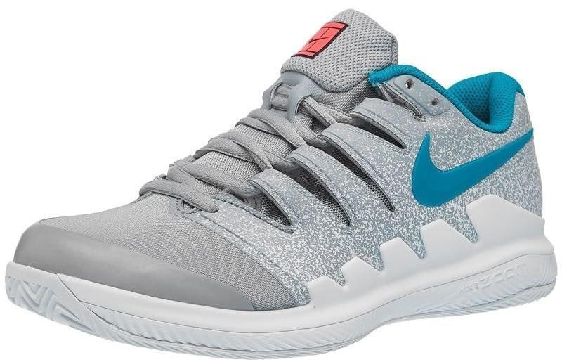 Теннисные кроссовки женские Nike WMNS Zoom Vapor 10 ГРУНТ wolf grey/hot lava/white