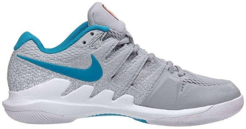 Теннисные кроссовки женские Nike WMNS Zoom Vapor 10 HC wolf grey/hot lava/white