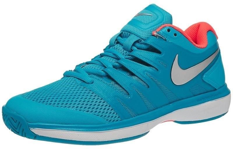 Теннисные кроссовки женские Nike WMNS Air Zoom Prestige lt blue fury/metallic silver