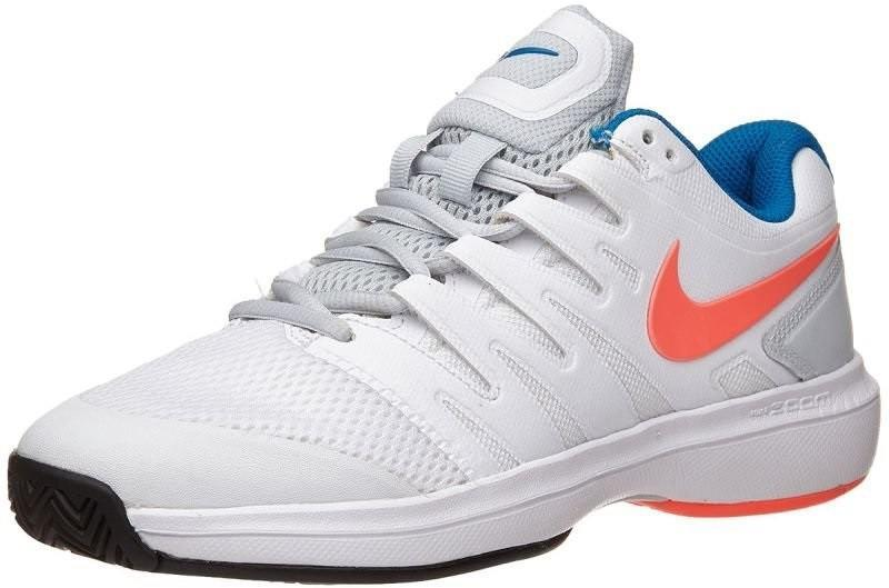 Теннисные кроссовки женские Nike WMNS Air Zoom Prestige white/hot lava/pure platinum/blue nebula