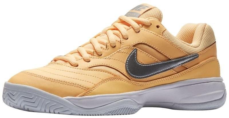 Теннисные кроссовки женские Nike Court Lite tangerine tint/metallic silver