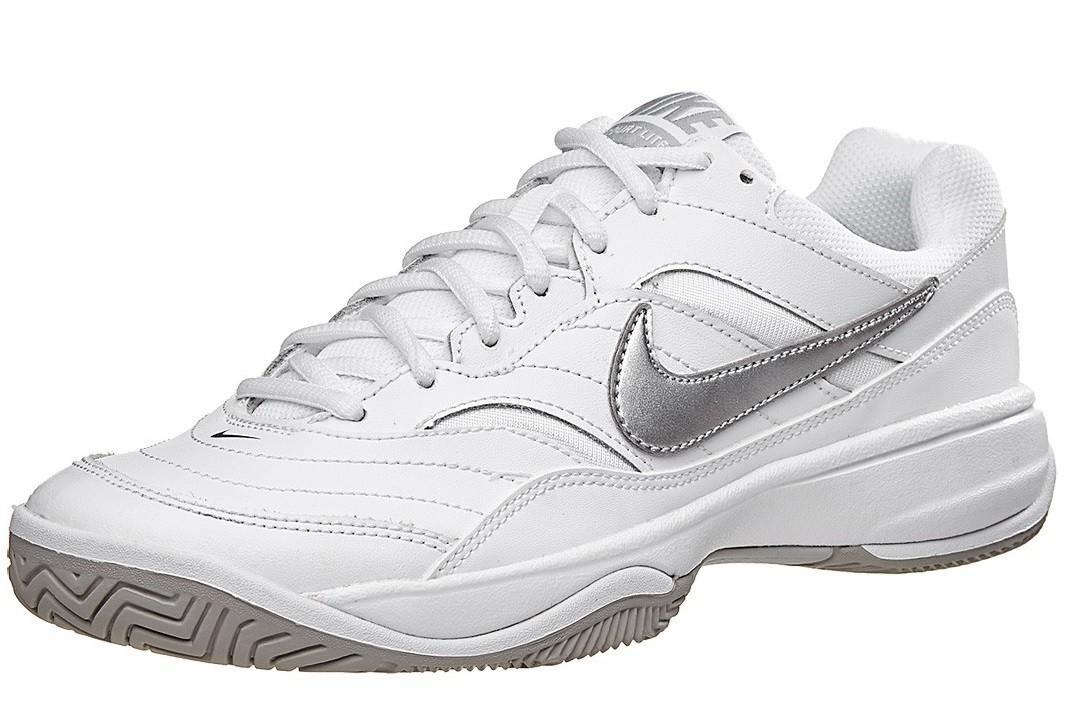 Теннисные кроссовки женские Nike Court Lite white/matte silver/medium grey